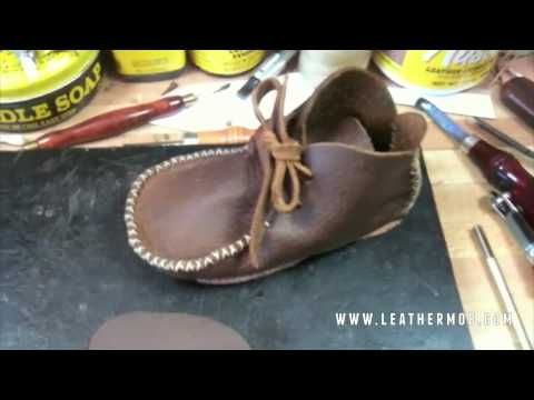 how to make baby moccasins youtube