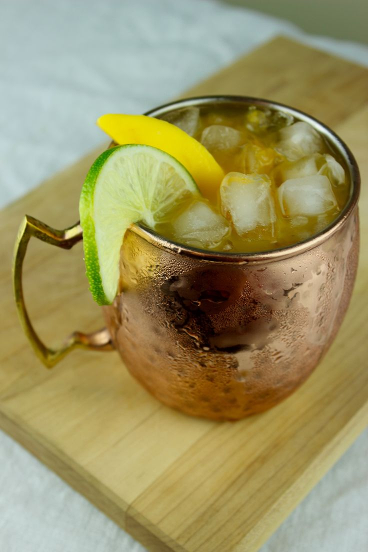 An easy cocktail recipe that sweetens up the traditional Moscow Mule with mango.