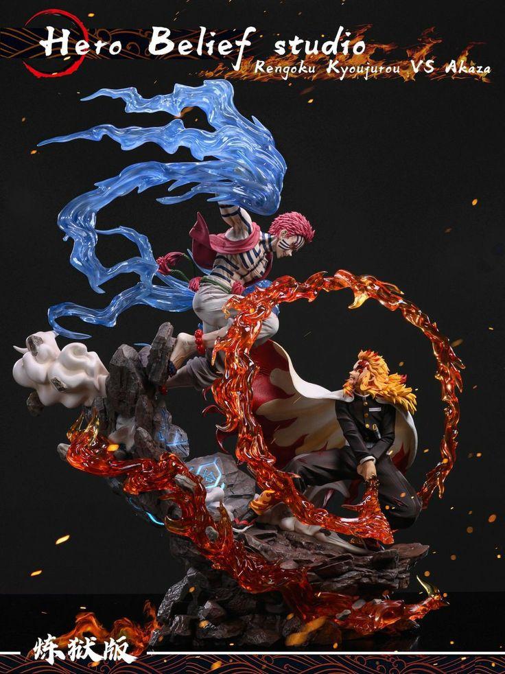 Demon Slayer Rengoku Kyojuro Vs Akaza Figure Hero Belief Studio In 2021 Figures Best Action Figures Anime Figurines