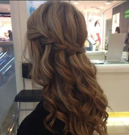 waterfall braid brunette hairstyles
