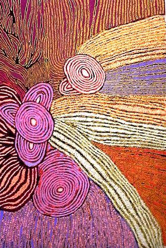 Walangkura Napanangka Women's Ceremony 2007 synthetic polymer paint on canvas 182 x 121 cm