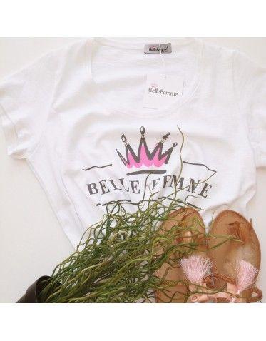 T-shirt με τύπωμα BELLE FEMME