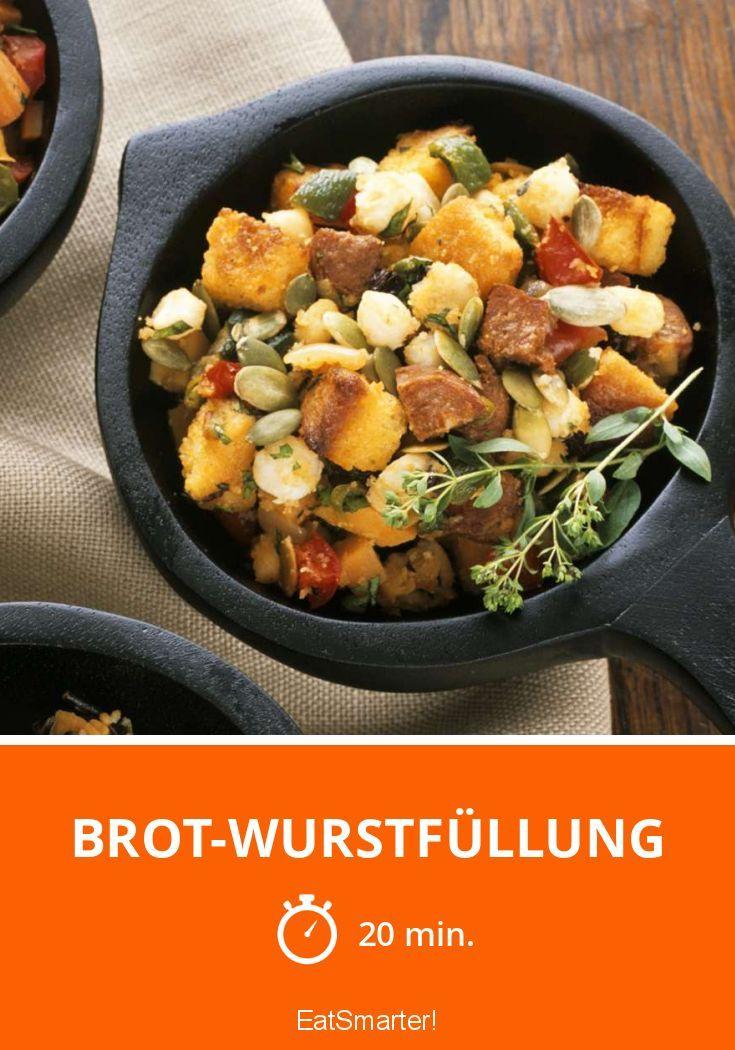 Brot-Wurstfüllung - smarter - Zeit: 20 Min. | eatsmarter.de
