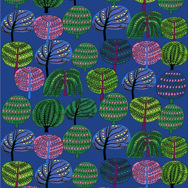 Isoisän puutarha fabric by Marimekko
