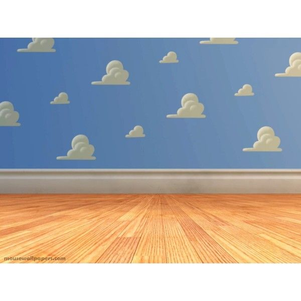 toy-story-3-andys-room Picture ❤ liked on Polyvore featuring backgrounds, disney, clouds, rooms and toy story