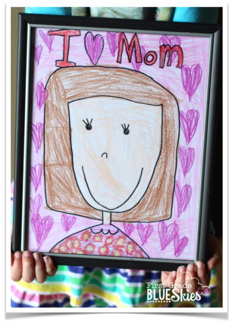 Mother's Day Directed Drawing craft