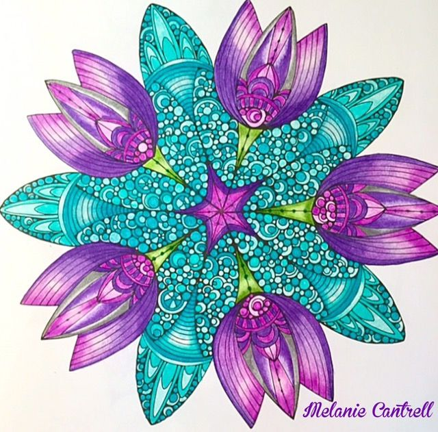"""Page from, Design Original's, """"Creative Coloring Mandalas"""" by Valentina Harper (Photo share only, no link to a website)"""
