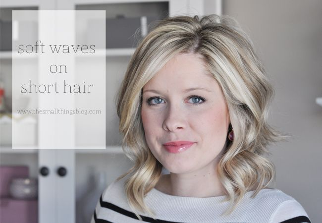 Soft Waves On Short Hair, Hair Tutorial