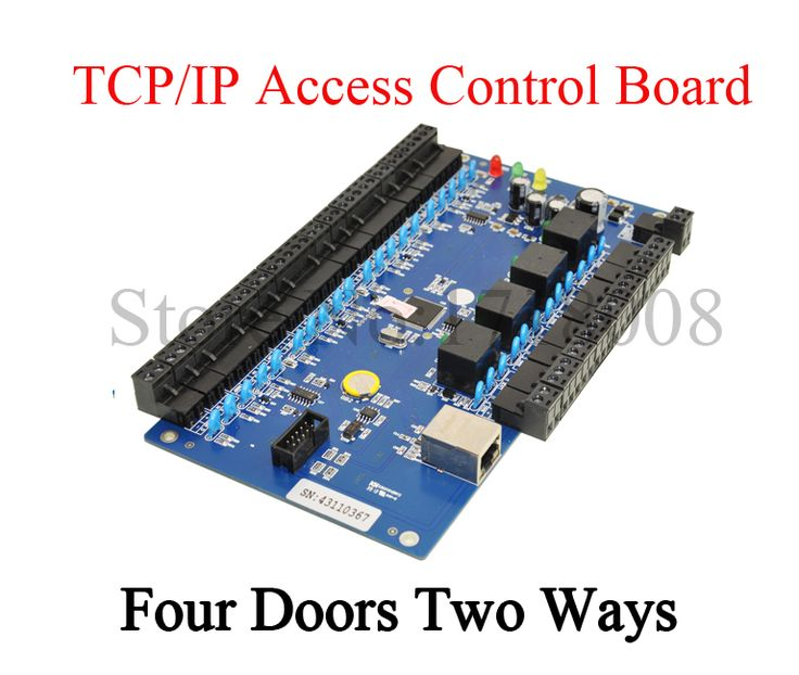 TCP/IP RFID Access Control System Door Access Panel LAN Interface Gate Access Controller for Four Doors Two Ways