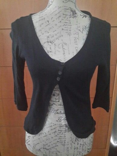 Black 3 button Top