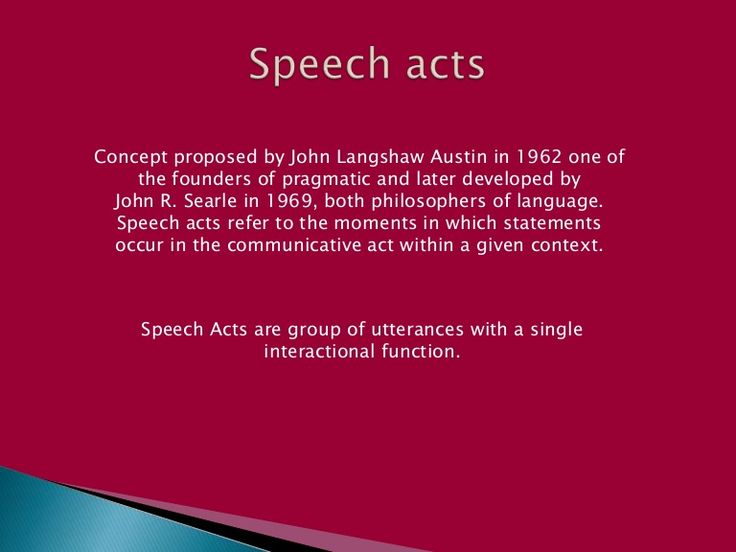 here is a litle explanation of speech acts and the types of ilocutionary functions...