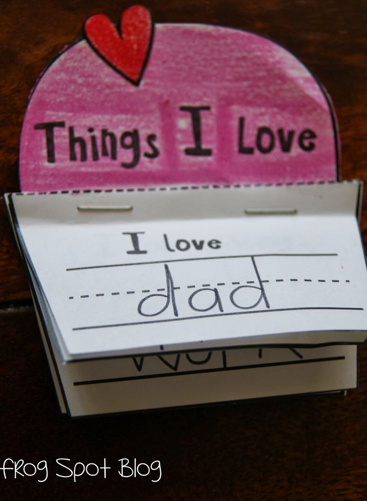 Craft with template. Idea to combine with a Valentine's Day countdown craft.