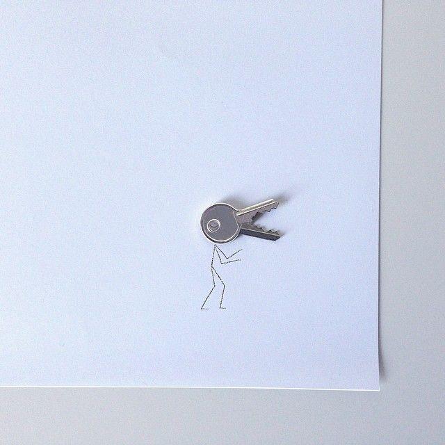 #llave #key #monstruo #monster #stickman #godzilla #drawing #dibujo #illustration #ilustración #creative #creatividad #minimalism #minimal #simple #conceptual #art #igers #igersbcn #igersgranada #normanmente