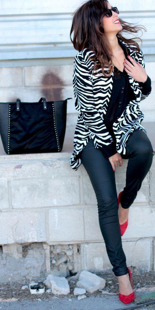 Zebra Print Blazer