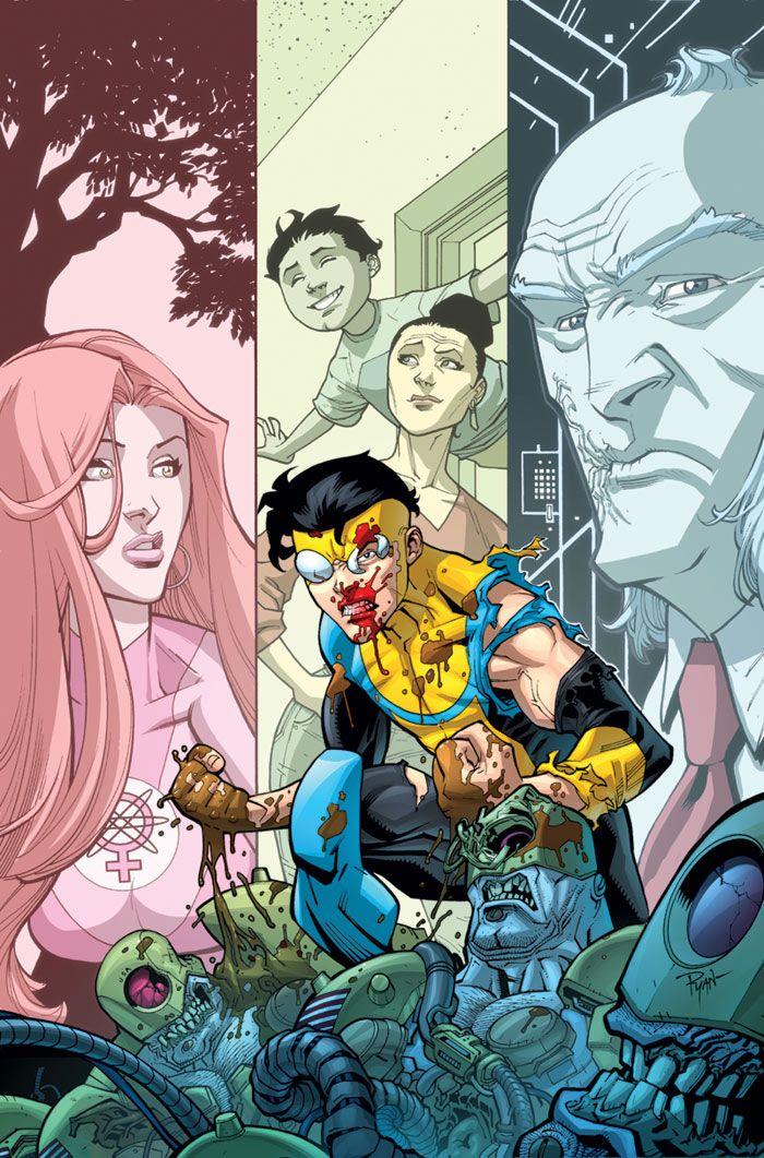 Invincible vol Who's The Boss? Dc Comics, Image Comics, Comic Book Characters, Comic Books, Invincible Comic, Heroes Book, Best Superhero, Comic Panels, Dope Art
