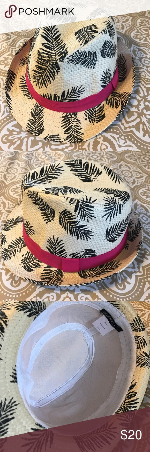 Ellen Tracy Palm Tree & Pink Beach Hat Fedora Cute as can be! ☀️ Turn heads while soaking up the sun in this adorable Ellen Tracy woven palm tree Fedora with a pink ribbon trim. Brand new-never worn. Mint condition, perfect for a trip to the beach or a day spent out in the sun! 💦 Ellen Tracy Accessories Hats