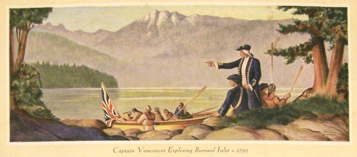 Captain Vancouver exploring Burrard Inlet