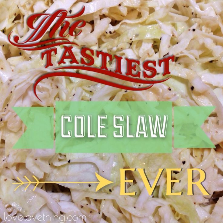 Cole Slaw 1 Small head of cabbage, shredded 1/3 cup olive oil (where to buy olive oil) 1/2 cup mayonnaise 1/4 cup apple cider vinegar (where to buy ap...