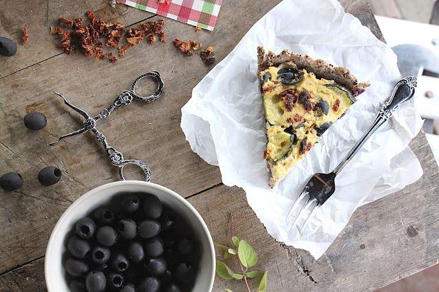 žít vege: bezlepkový vegan quiche