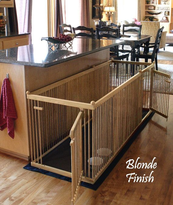 2 X6 Solid Maple Extended Length Indoor Dog Kennel With