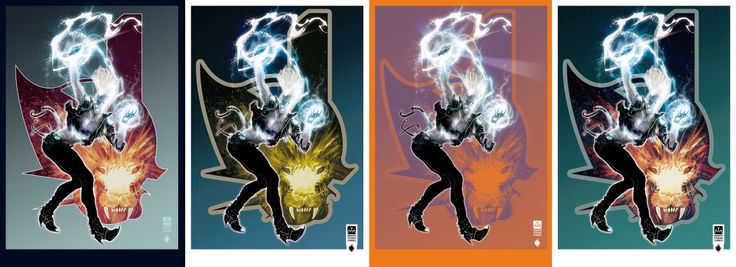 Here a 4 variants pack of a Storm commission poster done with PS + Cintiq 21 UX - Soon on Deviantart the HD version of each variant!!!  Art & colors: Leonardo Colapietro (Mantis Studio Comics)