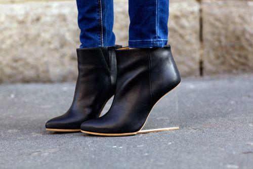 lucite heels.