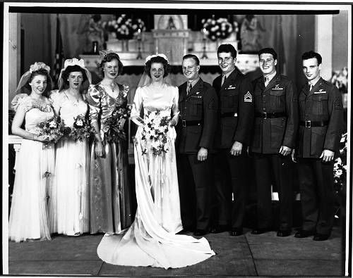 [Wedding of Phyllis H. and Bill Snyder, 1944] :: Women Veterans Historical Project