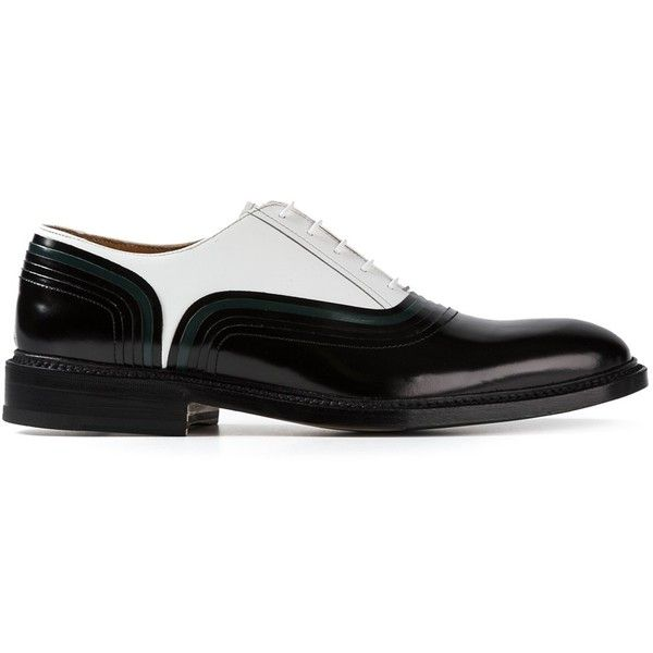 WEBER HODEL FEDER 'Rainbow' Oxford shoes (£605) ❤ liked on Polyvore featuring men's fashion, men's shoes, men's dress shoes, mens white dress shoes, mens oxford dress shoes, mens white oxford shoes, mens white shoes and mens black and white dress shoes
