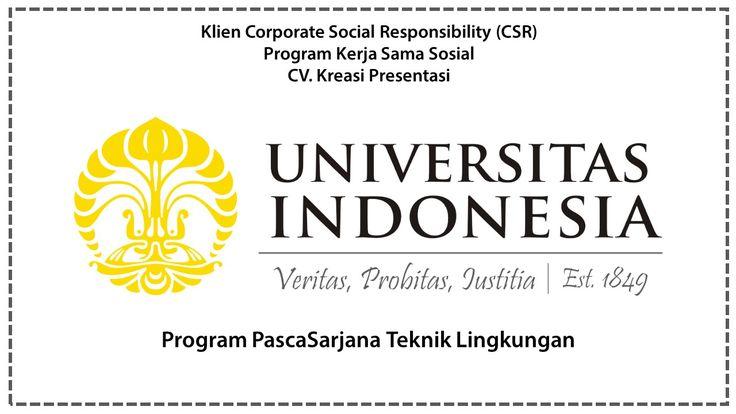 CSR Program PascaSarjana Teknik Lingkungan, Universitas Indonesia