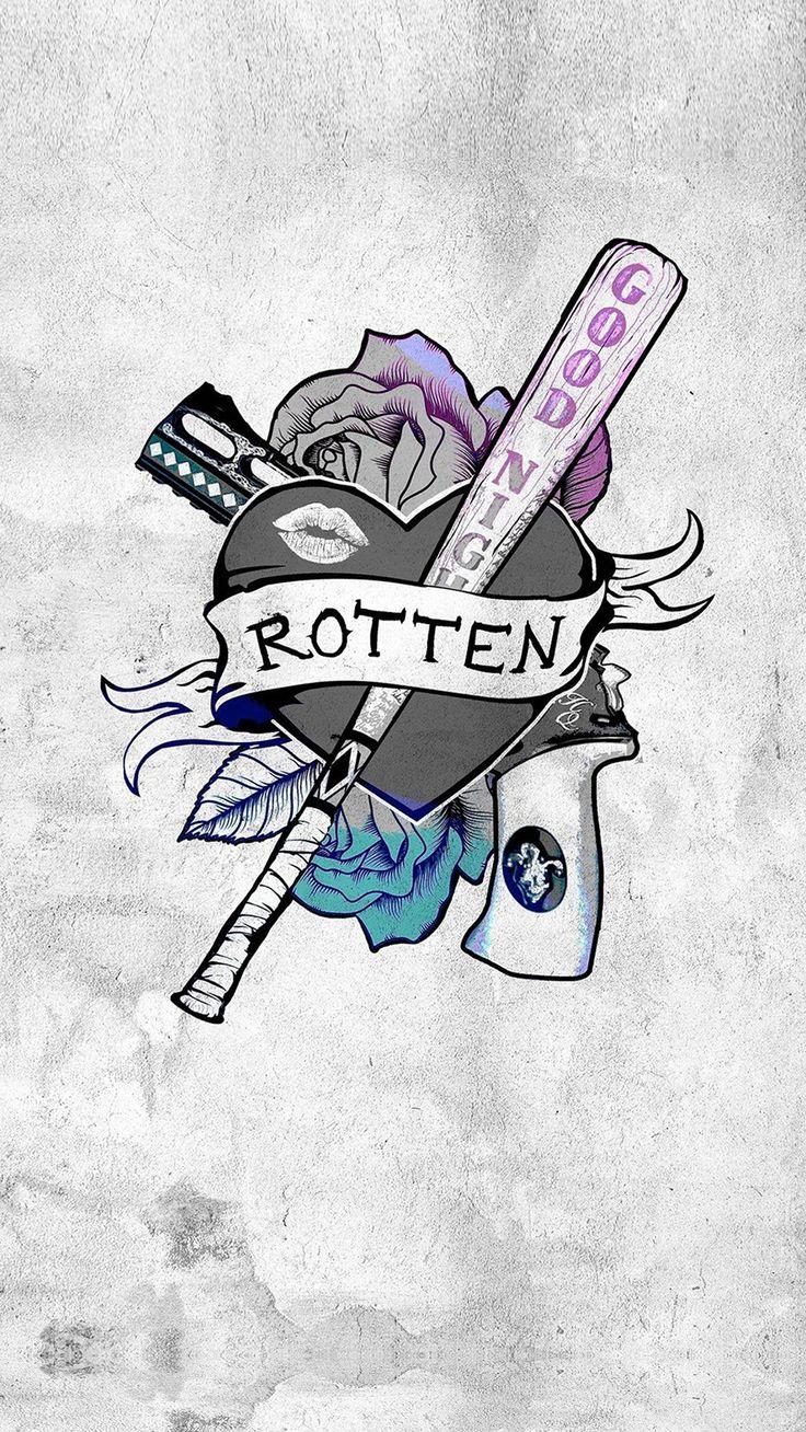 Harley Quinn Suicide Squad Logo Hero Art Illustration  #iPhone #6 #plus…