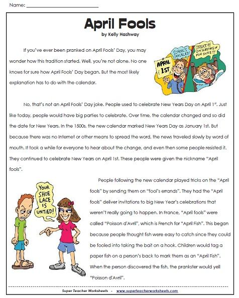 Worksheets Play Teacher Worksheets 147 best images about super teacher worksheets on pinterest have you ever wondered why we play tricks and jokes april 1st check out 5th grade readingteacher worksheetsenglish