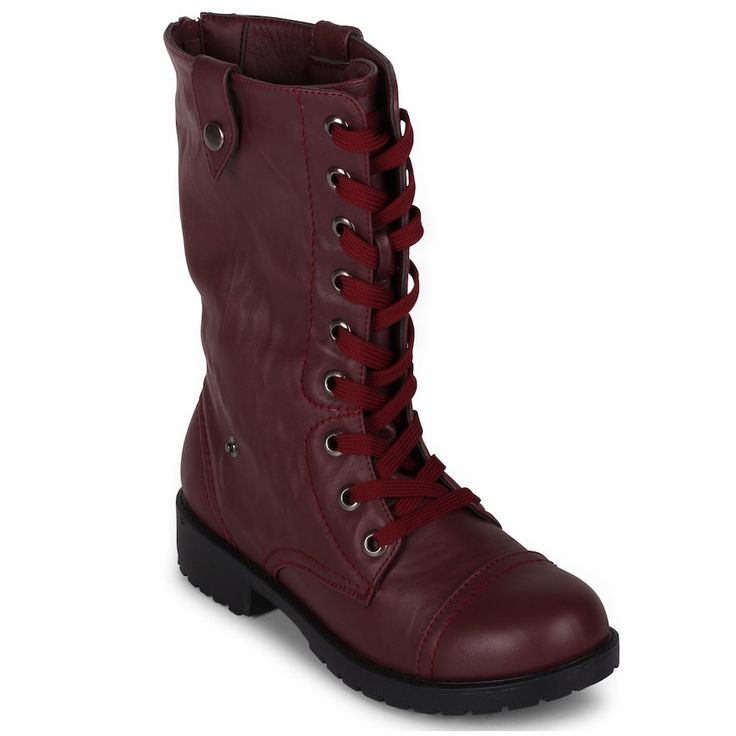 Wanted Colorado Women's Combat Boots, Size: 7.5, Red
