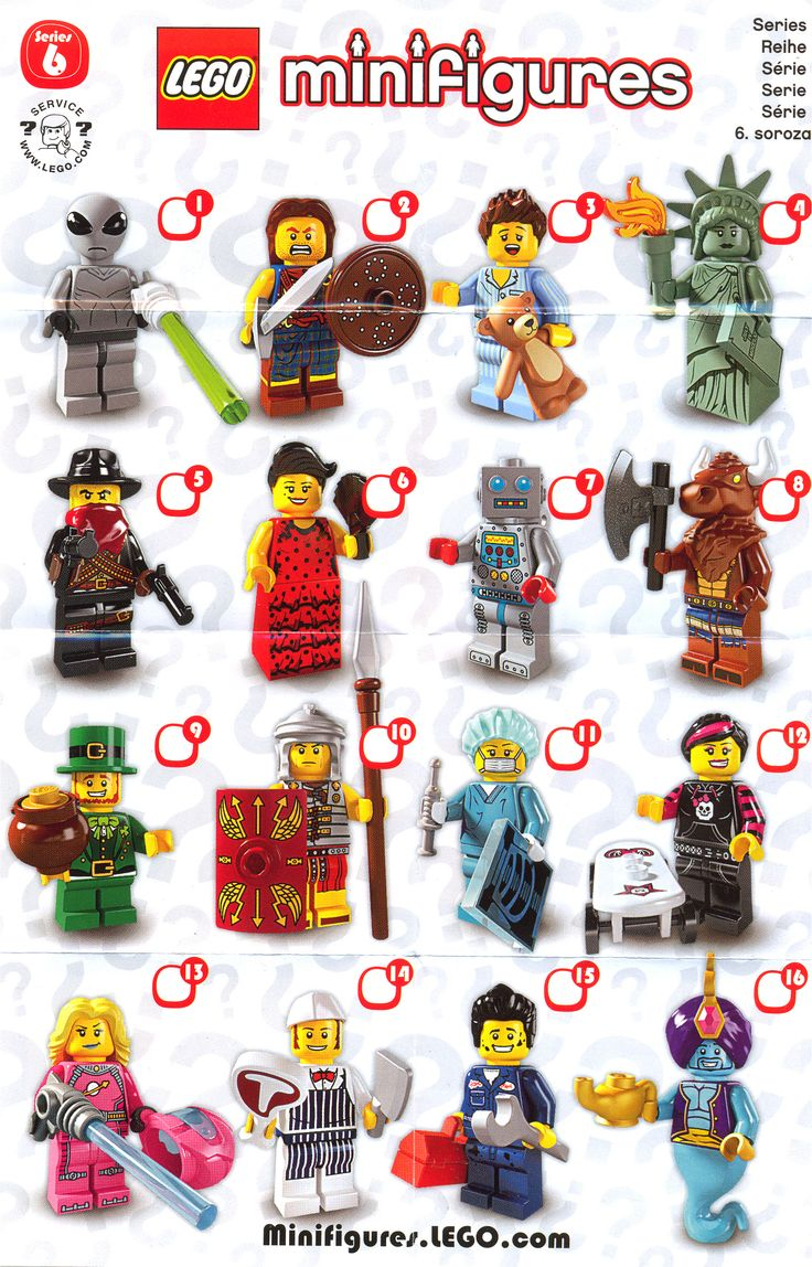 lego minifigures series 6 list