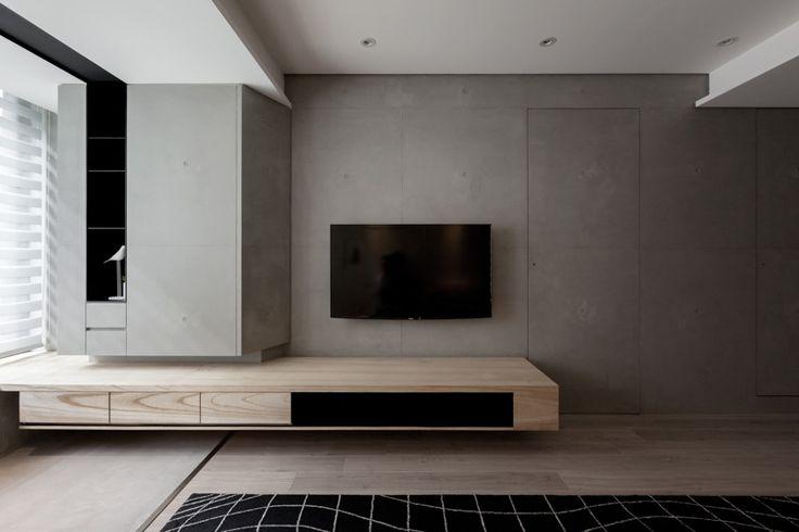 電視牆也是隔間牆,水泥飾板,空空空 INDOT   LIGHT OF THE DARK SIDE