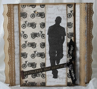 """Lisbeth has made a card with the new boys-collection - """"En herre med.."""""""