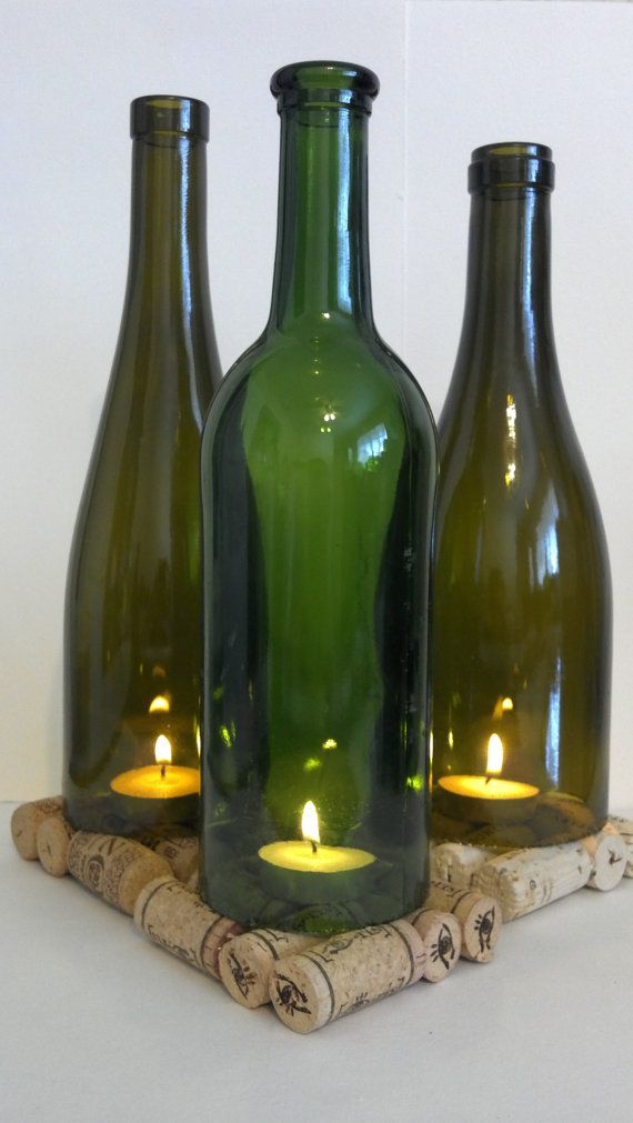 Best 25 wine bottle lanterns ideas on pinterest diy for How to cut the end of a wine bottle