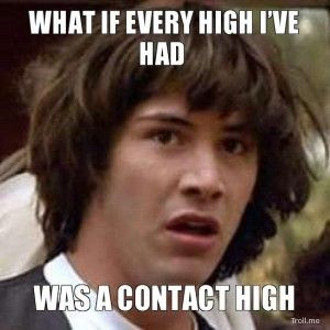 get contact high from second hand smoke