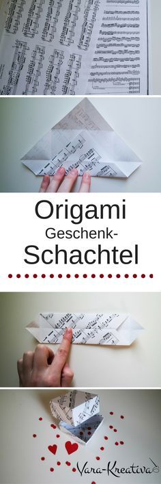 Origamischachtel, DIY Papier, DIY Geschenke, Origami, Vara-Kreativa