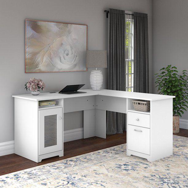 Bush Furniture Cabot 60w L Shaped Computer Desk Walmart Com Walmart Com In 2020 L Shaped Desk Bush Furniture White L Shaped Desk
