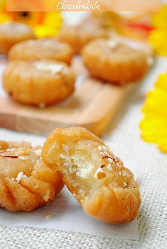 Chandrakala (Sweet stuffed pastry)