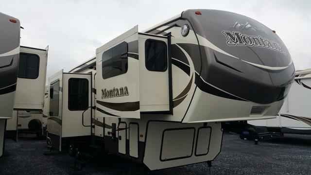 2016 New Keystone Montana 3710FL Fifth Wheel in Pennsylvania PA.Recreational Vehicle, rv, 2016 Keystone Montana3710FL, 4 Door Refer, 6-Point Hydraulic Auto Leveling, Correct Track, Ducted 2nd 13,500 BTU A/C, Fantastic Vent Fan - Bath, Montana Four Season Package, Residential Living Package, RVIA Seal,