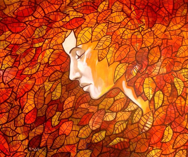 Polinia - Musa de la mímica  Fernando Toledo, artista cubano residente en Chile.  Acrílico tela  100x120cm  2012  US$ 1,279  EUR 949