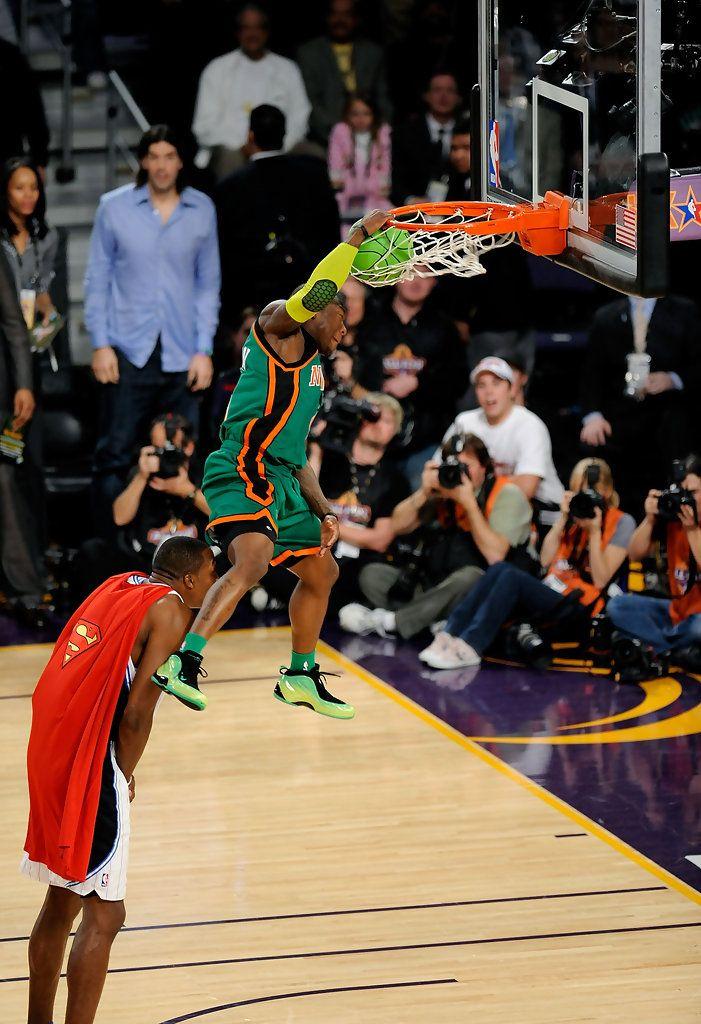 "Nate Robinson wearing the Nike Foamposite ""Kryptonate"""