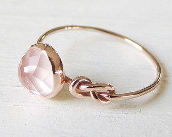 Anillo piedra de luna anillo de compromiso anillo de por Luxuring
