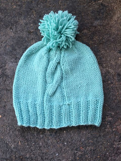 Ravelry  Basic Cable Stocking Hat pattern by Hill Vintage and Knits ... 36b9e67a4d4