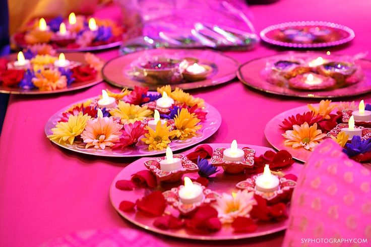 Pink themed Mehndi party