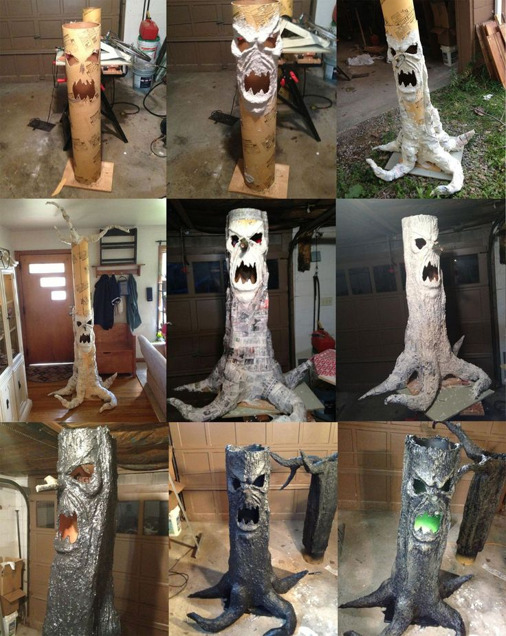scary haunted tree prop for halloween - Halloween Props Homemade