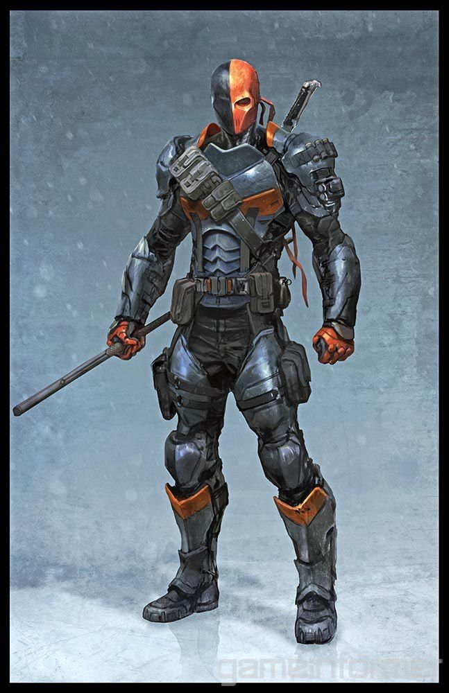 Deathstroke, from the upcoming BATMAN: ARKHAM ORIGINS. This game's gonna rock!