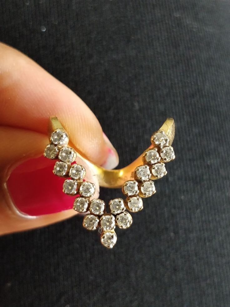 Mangalore Bunt Traditional V Shape Ring Gold Jewellery