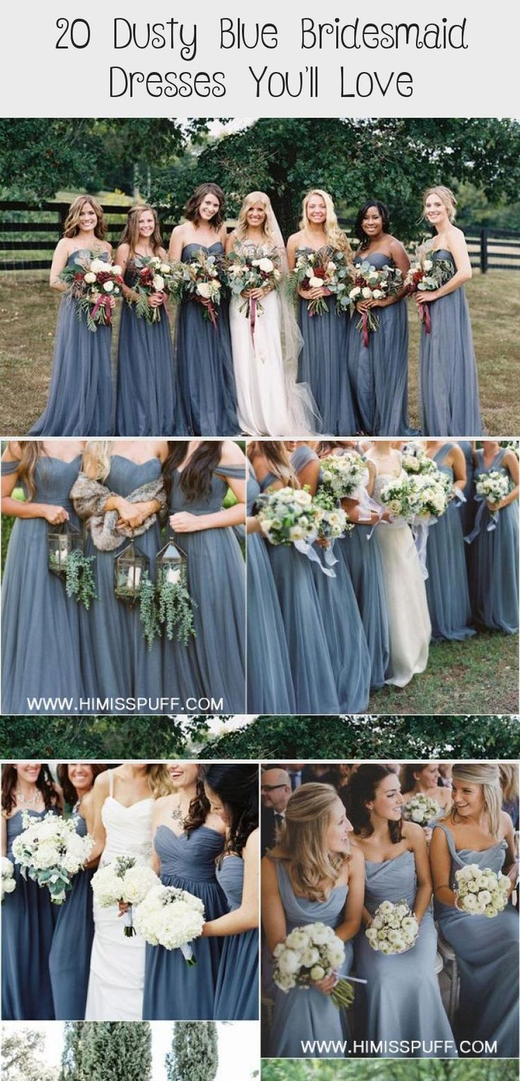 dusty blue wedding color ideas - dusty blue bridesmaid dresses  #weddings #wedding #blueweddings #weddingcolors #weddingideas #dustyblue #beautiful #dresses #bridesmaid #BridesmaidDressesMauve #YellowBridesmaidDresses #PeachBridesmaidDresses #BridesmaidDressesColors #BridesmaidDressesVintage